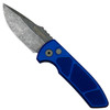 Pro-Tech Blue Textured SBR Auto Knife, Acid Washed Blade