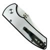 Pro-Tech Custom Textured SBR Steel Auto Knife, Stonewash Blade Clip View
