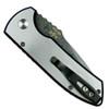 Pro-Tech Custom Textured SBR Steel Auto Knife, Damascus Blade Clip View
