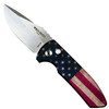 Pro-Tech Vintage Flag SBR Auto Knife, Stonewash Blade