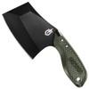 Gerber Green Tri-Tip Mini Cleaver Fixed Blade Knife, Black Blade