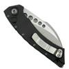 Microtech Hawk Auto Knife, Stonewash Blade Clip View