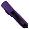 Microtech Purple UTX-85 OTF Auto Knife, Black Combo Blade REAR VIEW