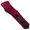 Microtech Violet Combat Troodon OTF Auto Knife, Black Blade REAR VIEW