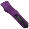 Microtech Purple Combat Troodon OTF Auto Knife, Black Blade REAR VIEW