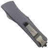 Microtech Grey Troodon Hellhound OTF Auto Knife, Apocalyptic Stonewash Blade REAR VIEW