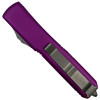 Microtech Violet Ultratech Dagger OTF Auto Knife, Stonewash Combo Blade REAR VIEW