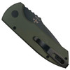 Pro-Tech Dark Green Textured SBR Auto Knife, Black Blade REAR VIEW