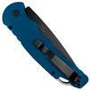 Pro-Tech Blue TR-4 Auto Knife, Black Blade REAR VIEW