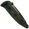 Microtech OD Green Socom Elite Tanto Folder Knife, Black Blade REAR VIEW