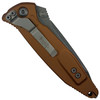 Microtech Tan Socom Elite Tanto Folder Knife, Apocalyptic Stonewash Blade REAR VIEW