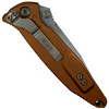 Microtech Tan Socom Elite Folder Knife, Stonewash Blade REAR VIEW