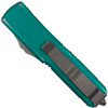 Microtech Distressed Turquoise UTX-85 Dagger OTF Auto Knife, Apocalyptic Stonewash Blade REAR VIEW