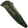 Microtech OD Green Socom Elite Folder Knife, Bronze Blade REAR VIEW