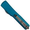 Microtech Blue UTX-70 Tanto OTF Auto Knife, Stonewash Blade  REAR VIEW