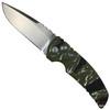 "Hogue Knives Vietnam Tiger Stripe EX-A01 3.5"" Auto Knife, Tumbled Blade"