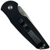 Pro-Tech TR-3 Auto Knife, Large Shaw Skull, Satin Blade REAR VIEW