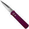 Pro-Tech Purple Godson Auto Knife, Satin Blade