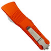 Microtech Orange Combat Troodon Dagger OTF Auto Knife, Stonewash Blade REAR VIEW