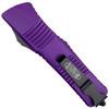 Microtech Purple Combat Troodon Dagger OTF Auto Knife, Black Blade REAR VIEW