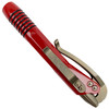 Microtech Siphon II Pen, Bronze Hardware, Red Finish