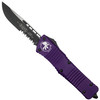 Microtech Purple Combat Troodon OTF Auto Knife, Black Combo Blade