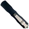 Microtech Dirac Dagger OTF Auto Knife, Stonewash Serrated Blade REAR VIEW