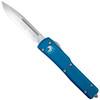 Microtech Blue UTX-70 OTF Auto Knife, Satin Blade