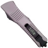 Microtech Grey Combat Troodon Tanto OTF Auto Knife, Black Blade REAR VIEW