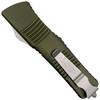Microtech OD Green Combat Troodon Tanto OTF Auto Knife, Stonewash Combo Blade REAR VIEW