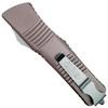 Microtech Grey Combat Troodon Tanto OTF Auto Knife, Stonewash Combo Blade REAR VIEW