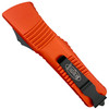 Microtech Orange Combat Troodon Tanto OTF Auto Knife, Black Combo Blade REAR VIEW