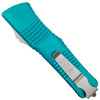 Microtech Turquoise Combat Troodon Dagger OTF Auto Knife, Satin Serrated Blade REAR VIEW