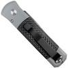 Pro-Tech Custom Grey Godson Auto Knife, Carbon Fiber, Damascus Blade Blade REAR VIEW