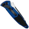 Microtech Blue Socom Elite Tanto Auto Knife, Black Combo Blade REAR VIEW