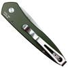 Pro-Tech OD Green Newport Auto Knife, Stonewash Blade REAR VIEW