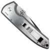 Pro-Tech Custom Textured Rockeye Steel Auto Knife, Black/Satin Blade REAR VIEW