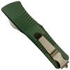 Microtech OD Green Troodon Hellhound OTF Auto Knife, Bronze Blade REAR VIEW