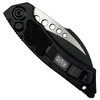 Microtech Tactical Hawk Auto Knife, Black Blade REAR VIEW