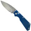 Pro-Tech Custom Blue/Black Strider SnG Auto Knife, Damascus Blade