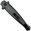Kershaw Grey Launch 8 Auto Knife, Carbon Fiber, Black Blade REAR VIEW