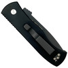 Pro-Tech Emerson CQC-7 Tanto Carbon Fiber Auto Knife, Black/Satin Blade REAR VIEW