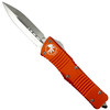 Microtech Orange Combat Troodon Dagger OTF Auto Knife, Satin Blade