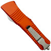 Microtech Orange Combat Troodon Dagger OTF Auto Knife, Satin Blade REAR VIEW