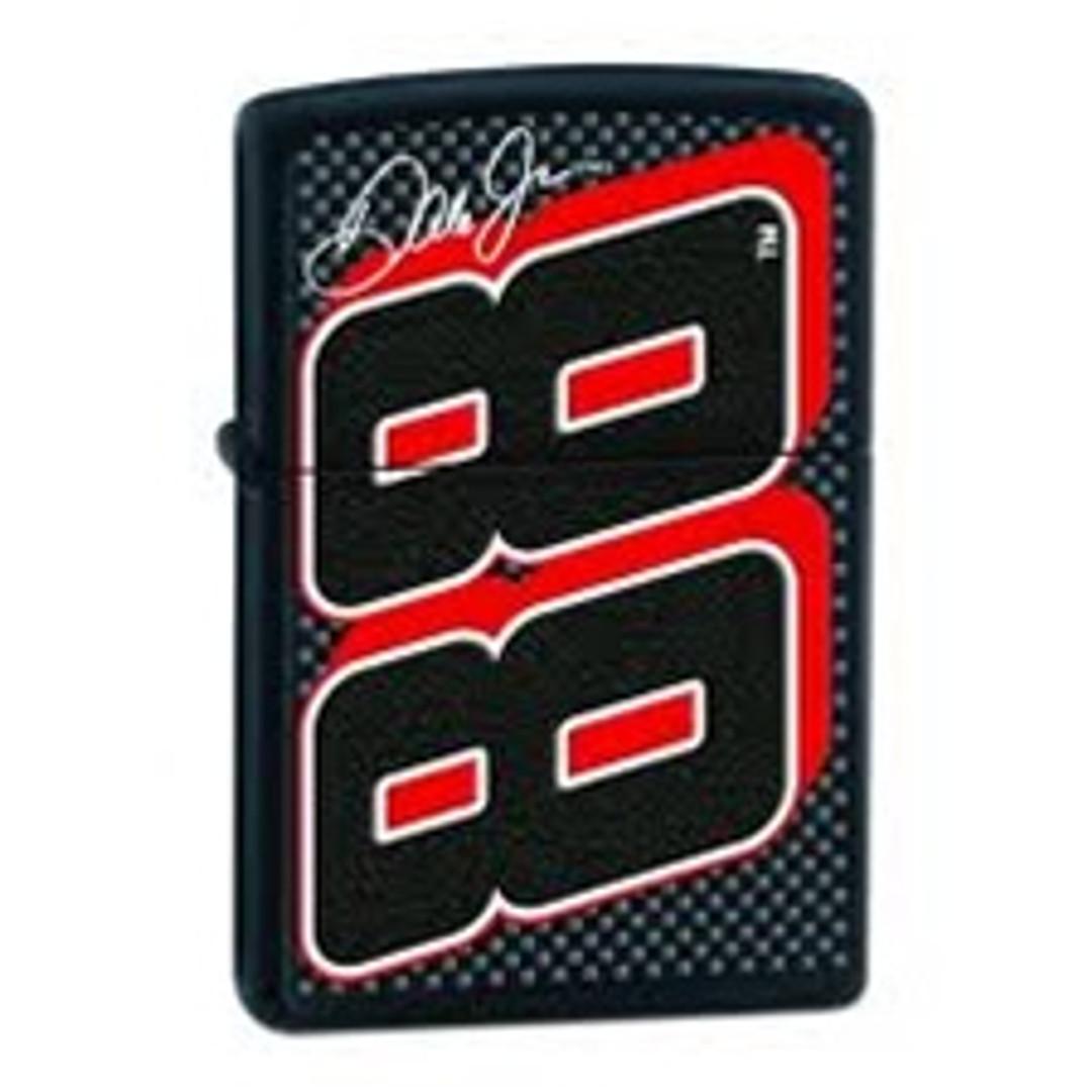 Zippo Motorsports Dale Jr. #88 Side Lighter with Black Matte Finish, 24693