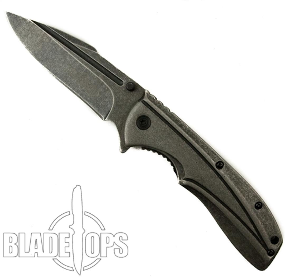 Tac-Force Assist Speedster Liner Lock Knife, Stainless Clip Blade