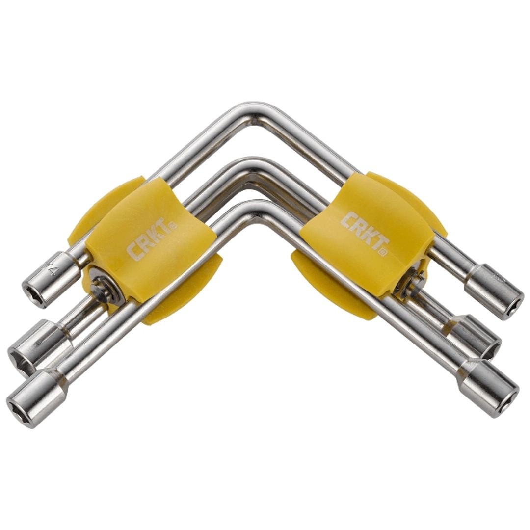 CRKT Twist & Fix SAE/Metric Socket Tool, Yellow Handles