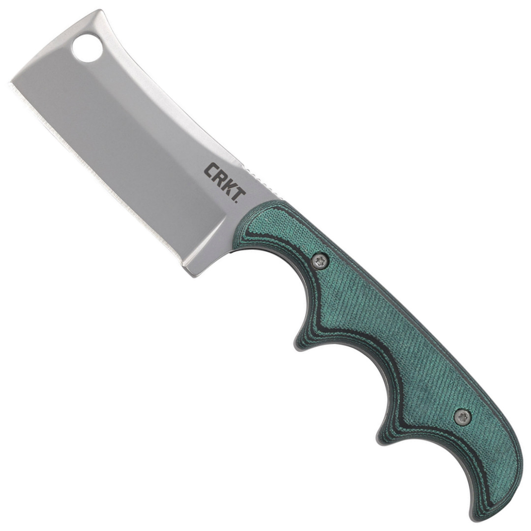 CRKT Minimalist Cleaver Fixed Blade Knife, Bead Blast Blade