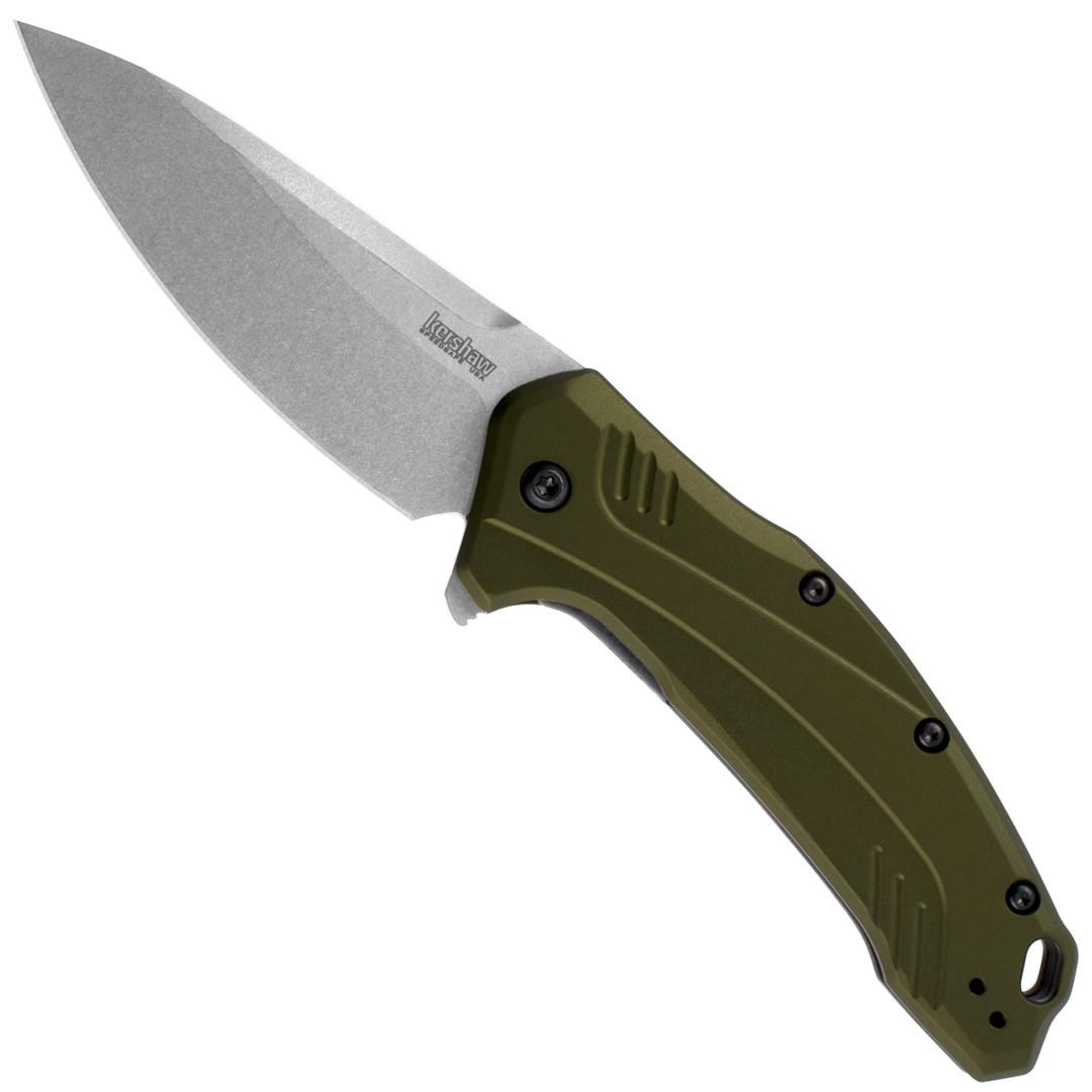 Kershaw Olive Link Spring Assist Knife, CPM-20CV Blade