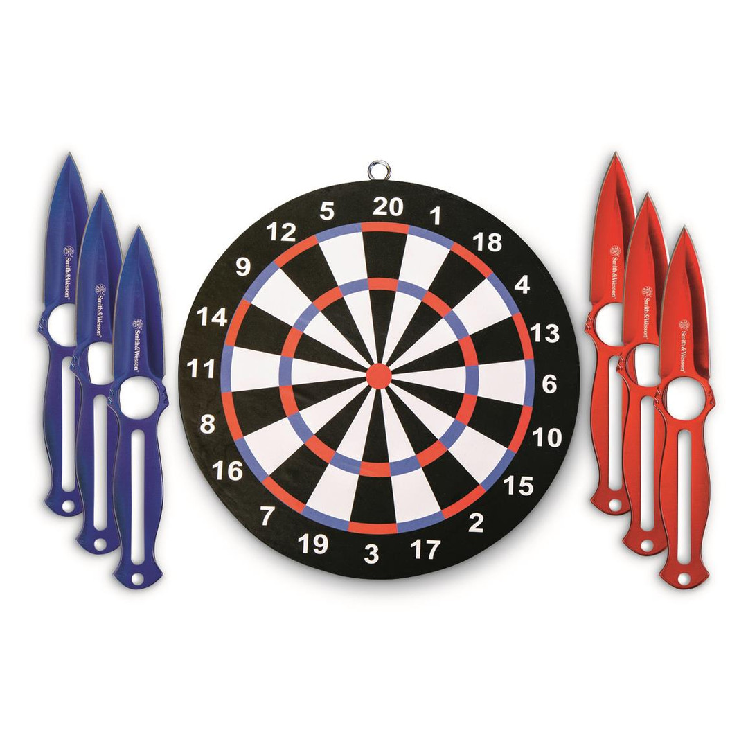 Smith & Wesson Six Throwing Knives Set with Target